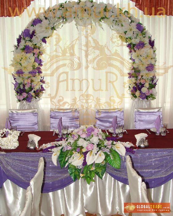 Оформление банкетных залов на свадьбу