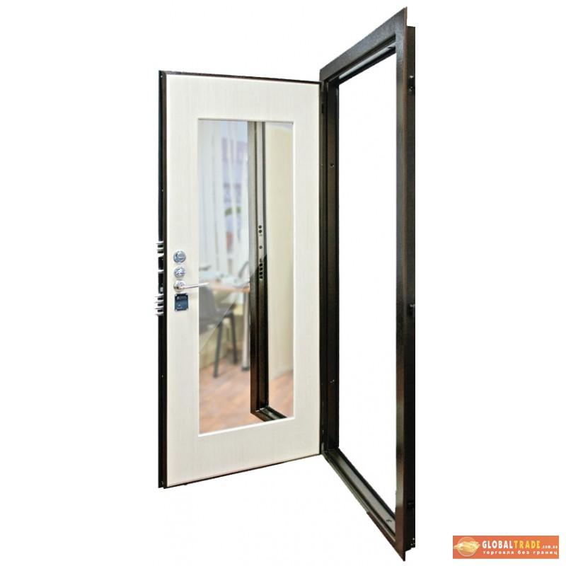 входная дверь белая с зеркалом купить