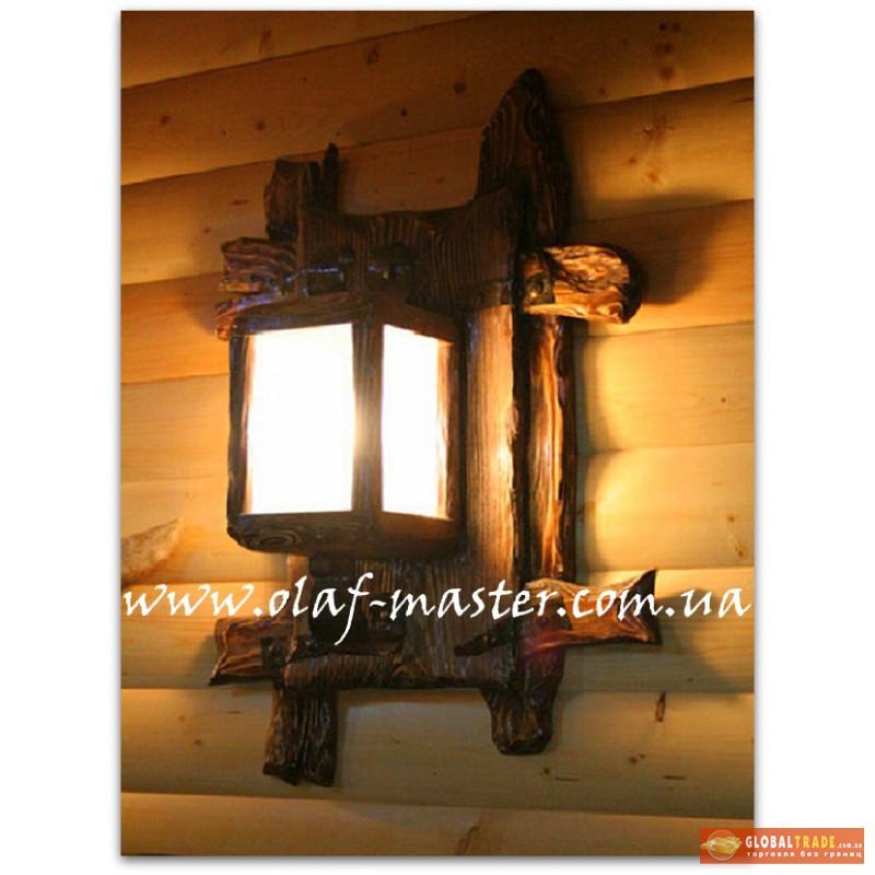 Бра светильник из дерева